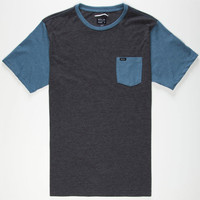 Rvca Change Up Mens Pocket Tee Charcoal  In Sizes