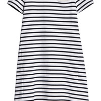 Sacai - Sacai Luck striped cotton-jersey mini dress