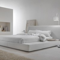 Upholstered double bed LONG ISLAND by MY home collection | design Carlo Trevisani