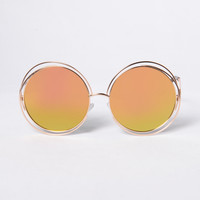 Lover's Beach Sunglasses - Gold/Yellow