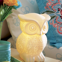 Ceramic Owl Lamp