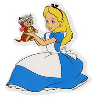 Disney Alice In Wonderland Alice & Dinah Sticker