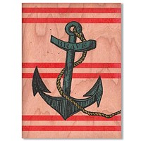 Everyday Anchor Wood Card