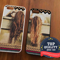 Best Friend Aztec Phone Cases BFF Aztec Pattern Couples Phone Case for iPhone 4/4S, 5/5S, 5C Series, iPhone 6, 6+ & Samsung Galaxy Cases Hard Plastic, Rubber Case