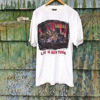 Rare Vintage 90's Original NIRVANA Unplugged In New York Shirt Official XL Grunge Punk Cobain Mudhoney Tad Hole In Utero Nevermind Pixies