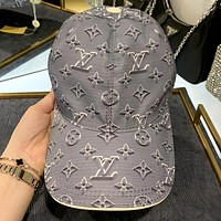 LV 2020 new simple jacquard letter logo baseball cap