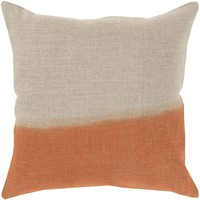 Dip Dyed Throw Pillow Neutral, Orange