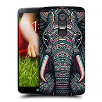 Head Case Designs Elephant Aztec Animal Faces Protective Snap-on Hard Back Case Cover for LG G2 D802