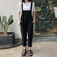 Relaxed Fit Denim Overalls