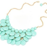 Free Falling Necklace- Mint