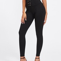 High Waisted Laced Leggings