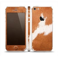 The Real Brown Cow Coat Texture Skin Set for the Apple iPhone 5