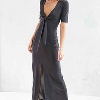 Silence + Noise Valencia Plunging Tie Dress
