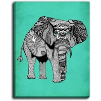 Pom Graphic Design's 'Elephant of Namibia Color' | Canvas Wall Art