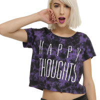 Happy Thoughts Tie Dye Crop Top