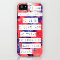 I Love You in Different Languages iPhone Case by Caleb Troy   Society6