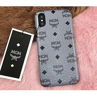 MCM Painted Series Beautiful Fashion iPhone 6/7/8/X Phone Case Cover F-OF-SJK 7
