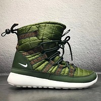 NIKE Leather High-Top Winter Snow Boots Shoes