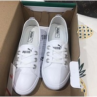 PUMA Trending Women Comfortable Magic Stick Flat Shoe Sneakers White I-CSXY