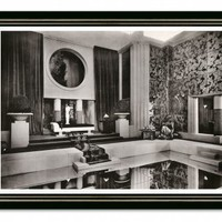 """Alfred Levard """"Pool Room on Riviera"""" (SM) 