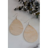 Metallic Shimmer Camo Teardrop Earrings