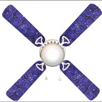 """Starry Night Star Stars Sky 42"""" Ceiling Fan and Lamp"""