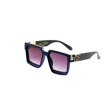 Onewel LV Louis vuitton new gold-embossed logo for men and women with large framed beach shades and glasses