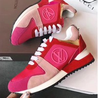 Louis Vuitton Women Fashion Casual Flats Shoes Sneakers Sport Shoes-9