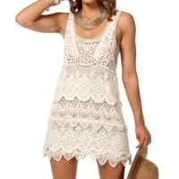 Sale-crochet Sleeveless Tunic