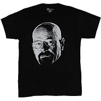 Breaking Bad Mens T-Shirt - Walter White Photo Face In Shadow