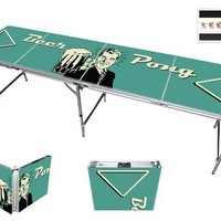 Red Cup Funny Vintage Beer Pong Table - High Definition Graphic