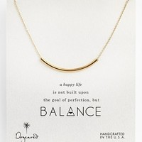 Women's Dogeared 'Balance' Necklace - Gold Dipped