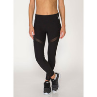 Workout Leggings With Ankle and Leg Mesh Inserts