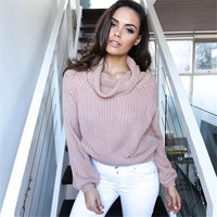 Casual Turtleneck knit Sweater