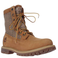 Timberland Auth Open Weave Mid-Calf Perforated Boots - Wheat