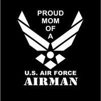 US Air Force Proud Mom Proud Dad Vinyl Decal car truck auto vehicle window custom sticker United States Air Force Airman Military decal