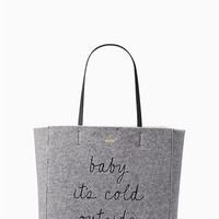 star bright baby it's cold outside tote | Kate Spade New York
