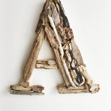 """8"""" Driftwood Letter, Letter A,  Woodland Letter,  Wall Letter, Rustic Letter, Wood Letter, Nursery Wall Letter, Rustic Nursery Decor"""
