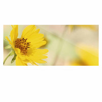 """Sylvia Coomes """"Abstract Yellow Flowers"""" Green Photography Luxe Rectangle Panel"""