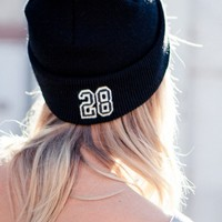 28 EMBROIDERY BEANIE