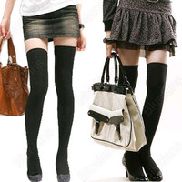 Women's Sexy Pure Color Over The Knee Stockings Hosiery Thigh-Highs Socks Hot