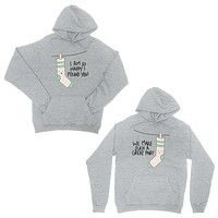 Socks Great Pair Grey Matching Couple Hoodies For Anniversary Gift