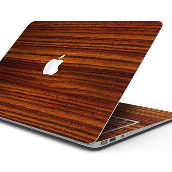 """Bright Red Ebony Woodgrain - Skin Decal Wrap Kit Compatible with the Apple MacBook Pro, Pro with Touch Bar or Air (11"""", 12"""", 13"""", 15"""" & 16"""" - All Versions Available)"""