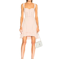 JONATHAN SIMKHAI Seersucker Bustier Mini Dress in Powder Pink | FWRD