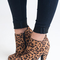 Suede Your Decision Leopard Suede Booties