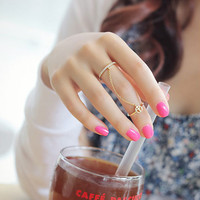 Mittens tassel chain ring