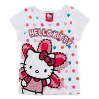 Hello Kitty® Short Sleeve Graphic Tee-Dot - JCPenney