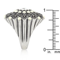 Antique Silver Crest Ring Ii, size : 08