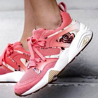 Bunchsun Puma X Shadow Society R698 sports shoes pink rose
