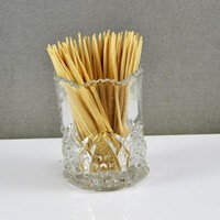 Toothpick Holder Match Spill Safe Buttons Arches Pattern Duncan and Sons,  Miller Victorian Era EAPG 1897 Elegant Tableware